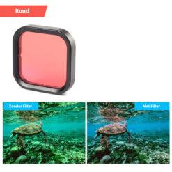 Gopro hero 8 duikfilter rood