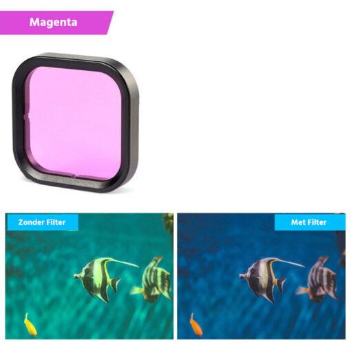 Gopro hero 8 duikfilter magenta