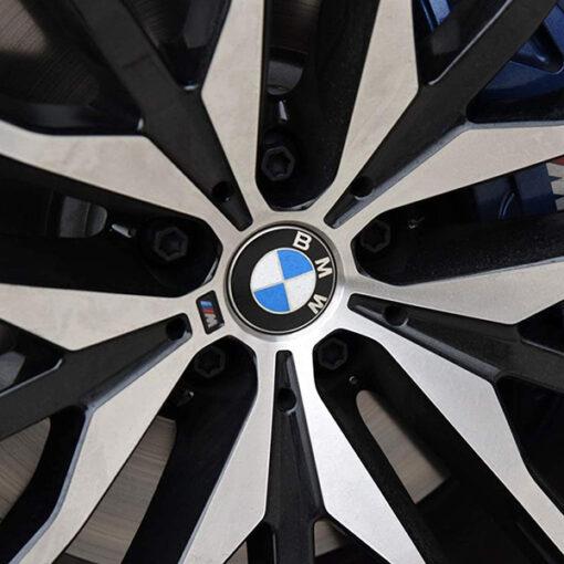 BMW naafdoppen 68mm blauw wit